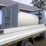 Esővíz tartály szállítása
