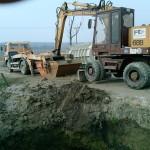 szennyvíztartály telepítésének előkészületei